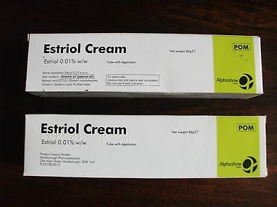 Estriol X2 Tubes 80G New Sealed With Applicator