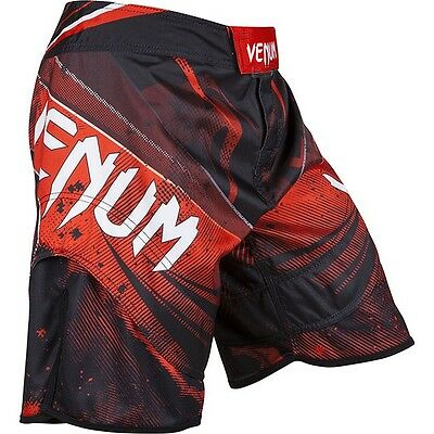 Venum Galactic Black & Red Fight Shorts - Small (31-32)