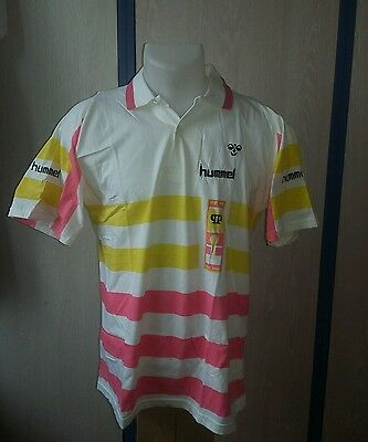 POLO MIKAEL PERNFORS HUMMEL VINTAGE  ENDS 80s PERFECT CONDITION SIZE L (LIKE M)