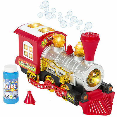 Kids Toys  Blowing Bubble Train Car Music, Lights and Bump'n'Go Battery Operated