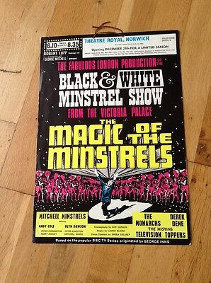 MAGIC OF THE MINSTRELS poster THEATRE ROYAL NORWICH