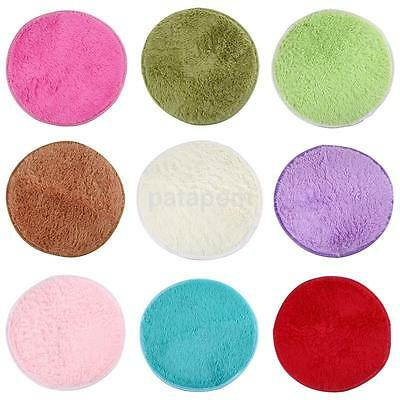 Absorbent Non-slip Soft Round Plush Shower Mat Bath Bathroom Floor Rug 10 Colors
