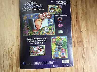 Coats counted cross stitch kit Plastic canvas frames Nursery Rhymes