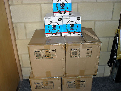 Bulk Lot 20 x Trust Chatpack Headset and Webcam Trust 31030