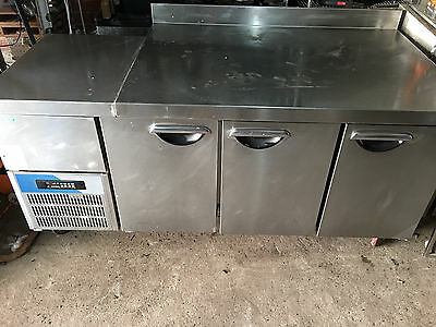 3 Door Stainless Steel Commercial Refrigerator With Counter Top/Prep Surface