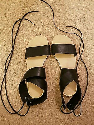 Witchery black sandals size 38