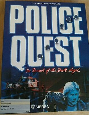 Police Quest vintage computer game for Commodore Amiga by Sierra On-line RARE