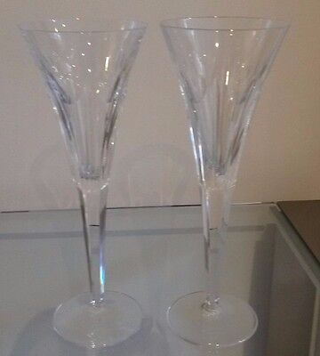 Pair of Waterford Crystal 'Love' Millenium Collection Champagne Flutes