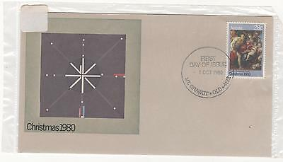1980 Australia  Post First Day Cover xmas CHRISTMAS 1980 Holy Family 1/10/1980