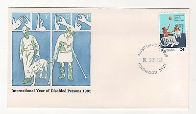 1981 Australia INTERNATIONAL YEAR OF DISABLED  First Day Cover FDC 16/9/1981