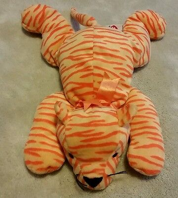1996 Ty Pillow Pal Purr Striped Tiger Bear 13""