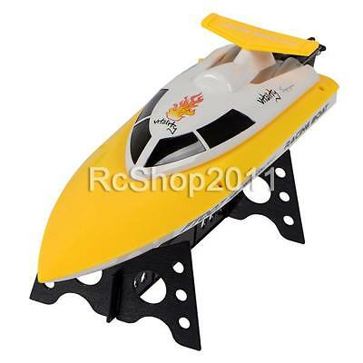 FT007 4-Channel 2.4G High Speed Brushless Remote Control RC Racing Boat Yellow