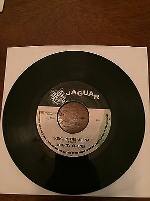 King In The Arena Johnnie Clarke Original Jaguar Reggae 7inch Vinyl