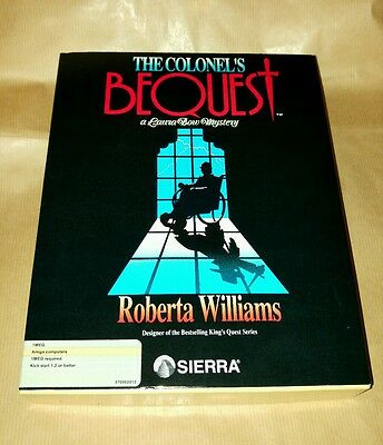 The Colonel's Bequest Commodore Amiga vintage software RARE by Sierra On-line