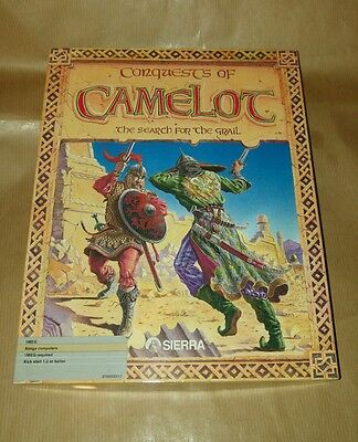 Conquests of Camelot for Commodore Amiga vintage RARE Sierra On-Line
