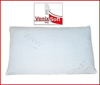 Coppia federe VENIXSOFT in Silver, lavabile, per cuscino memory, lattice e fibra
