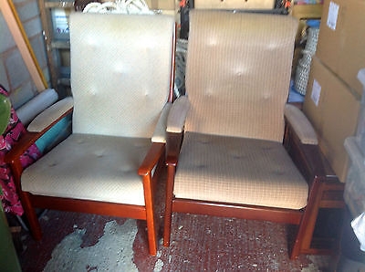 Pair of Vintage Cintique Armchairs/Easy Chairs