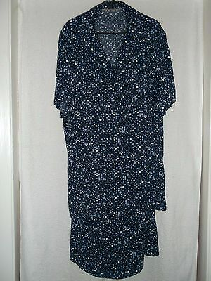 The Pearl Collection black & blue 2 piece skirt & blouse set size 16