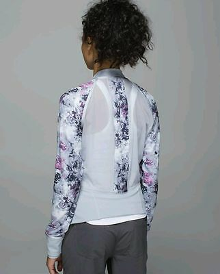 NWT$128Lululemon If You Are Lucky Jacket S8 moody mirage white deep navy silver