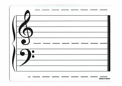 Music Theory Instruction Board Double Sided suits Erasable Whiteboard Markers