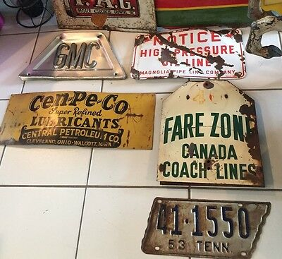 VERY RARE 1950's BUS FARE ZONE SIGN CANADA COACH LINES 2 SIDED ROUTE 40