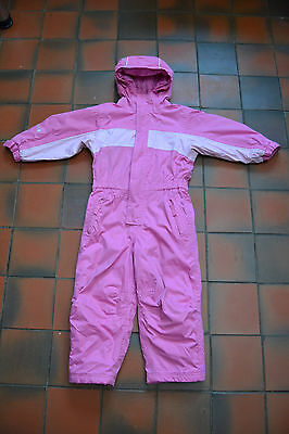 Girls Snowsuit, Pink All In One Winter Outdoor Onesie, Alternative Coat, Age 3-4