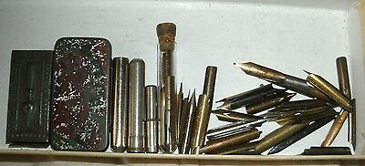 Quantity of Pen Nibs and containers