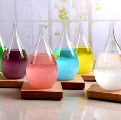 Colorful Storm Glass Crystal Drops Water Shape Weather Forecaster Home Decor