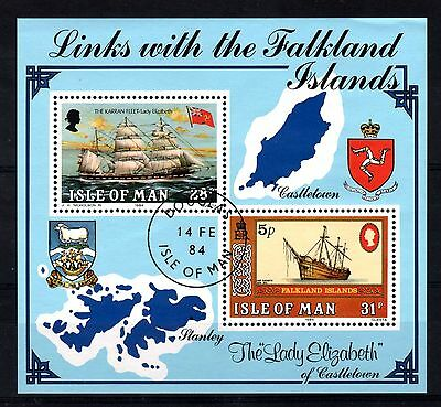 Isle of Man:1984:Boats,Links with Falklands,Min/Sheet.Used