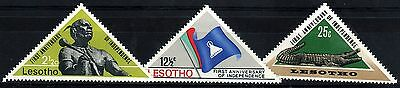 Lesotho:1967:First Anniversary of Independence,Set.Mint.