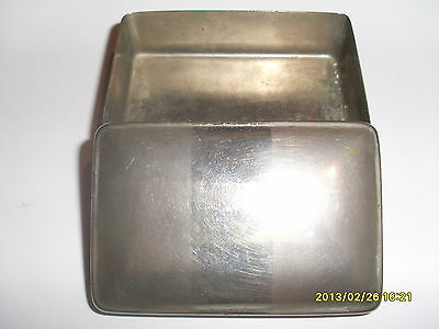 "STAINLESS STEEL TRINKET BOX COMPLETE WITH LID - 2.7/8"" L x 1.7/8"" W x 1"" D"