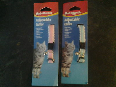 NEW Joblot x10 BOB MARTIN Adjustable Felt Lined Quick Release Cat Collar & Bell