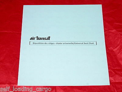 Air Transat Universal Seat Chart - Boarding Pass Stickers - Complete & Unused!