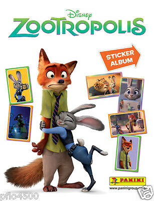 Disney Zootropolis Sticker Collection Album & All The Stickers To Complete