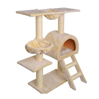 Cat Tree Scratching Post Scratcher Pole House Furniture Multi Level with Ladder