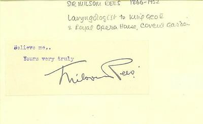 Sir Milsom Rees - laryngologist to King George V, Queen Mary, Queen Alexandra ++