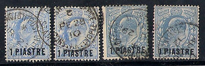 British Levant 4 Old Stamps Overprint