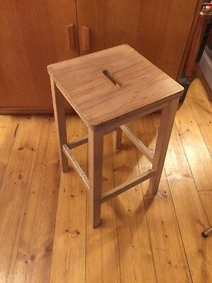 40 Vintage Wooden School Lab Stools. Delivery Can Be Arranged.