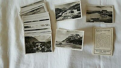 Senior Service cigarette cards of Beautiful Scotland