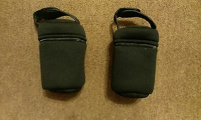 Tommee Tippee INSULATED FEEDING BOTTLE BAGS 2 x Travel Holder Carriers Keep Warm
