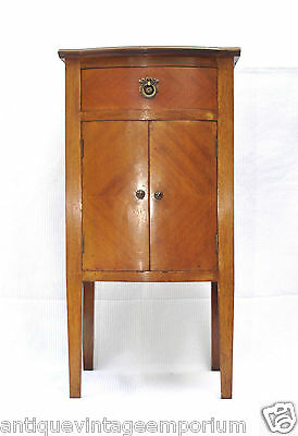 Beautiful Edwardian Antique Mahogany Bow Front Cabinet C1910 Xmas