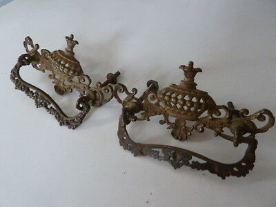 Set of 2 Ornate Vintage Unique Drawer Pulls -Rare -See Pics!