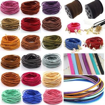 Wholesale 10 yard 3mm Faux Suede Leather String Jewelry Making Thread Cords DIY