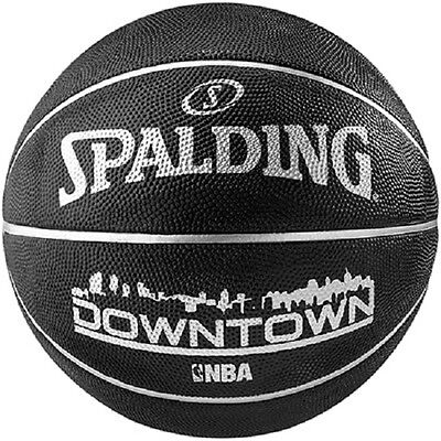Spalding Downtown Outdoor Basketball Size 7 Adult/Junior BLACK Basket Ball All c