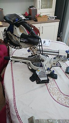 "210mm (8"") Double Bevel Sliding Compound Mitre Saw 6 mounths old"