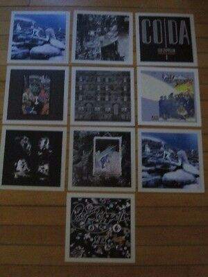 Set of 10 Lithos Led Zeppelin Reissues LP CD III S/T Coda Physical In Through