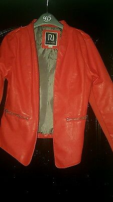 girls age 12 yrs faux leather jacket by river island