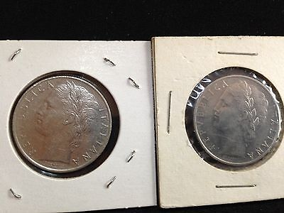 Italy 1963 and 1964 100 Lira coins