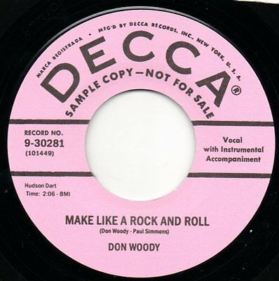 Don Woody- Make Like A Rock And Roll / Morse Code - DECCA 45 RE Rockabilly Hear