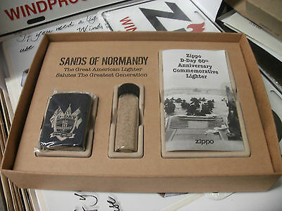 RARE Zippo Lighter Set Sands of Normandy 60th Anniversary D-Day NEW
